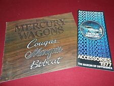 1977 MERCURY STATION WAGON BROCHURE BOBCAT COUGAR MARQUIS + ACCESSORIES CATALOG