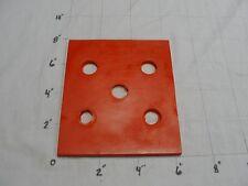 "Polyurethane/Urethane Sheet  SEE DESCRIPTION 1/4""x6 5/16""x7 7/8"" 65 D RED#4000"