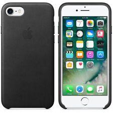 BLACK GENUINE ECHT ORIGINAL Apple Leather Case For iPhone 7 & 8 NEW RETAIL BOX