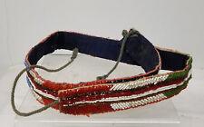 Antique Vintage Native American Indian Beaded Souvenir Belt Beads Tribal