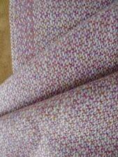 Vintage 30s 100 % wool fabric mauve cream medium weight 140 X 2.45 cm
