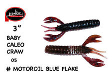 "BABY CALEO CRAW 3"" MOLIX COLORE #05 MOTOROIL BLUE FLAKE"