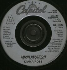"""Diana Ross Chain Reaction More & More 7"""" WS EX/uk cl386 silver plastic label"""