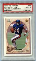 1992 Walter Payton Upper Deck Heroes Hall of Fame Bound Card PSA 9 Mint Historic
