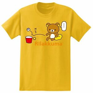 **Legit** Rilakkuma Anime Misses the Throw Yellow Authentic T-Shirt RK7M04