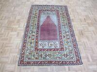4 x 6'6 Hand Knotted Brown Turkish Oushak Ushak Prayer Oriental Rug G6334