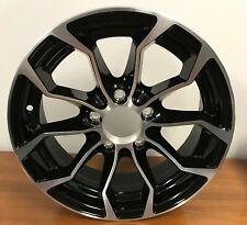4 New 15 inch Rim 15x6 5-4.5 Trailer Aluminum Black Machined PSZ1024 5 Lug