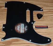 Fender Telecaster Pickguard American Standard Black Guitar Parts Project USA New