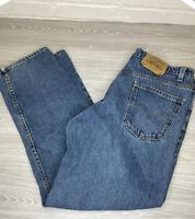 Vintage Levi Strauss 550 Relaxed Fit Denim Blue Jeans Men's 38 X 30 Orange Tab