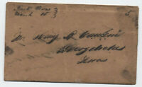 1850 Rusk Texas manuscript stampless cover and letter [5809.25]