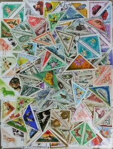 TRIANGLES, Triangle Shaped collection 200 different Used + Mint stamps (lot#DP)