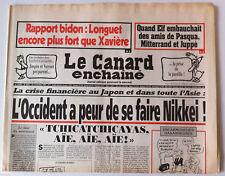 Le Canard Enchaîné 26/11/1997; Dessin de Cabu/ La crise financière au Japon