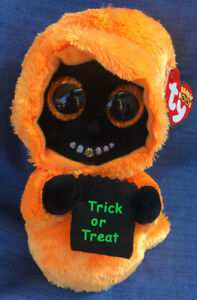 W-F-L TY Boos Grinner Mind Halloween 5 7/8in Glubschi Boo 'S Glitter Eyes Ghost