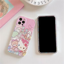 For iphone 12 11 Pro XS Max XR 7 8+ Cute Cartoon kitty Tempered Glass case cover