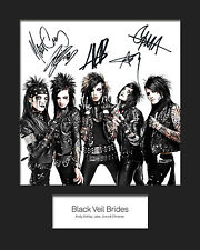BLACK VEIL BRIDES #1 10x8 SIGNED Mounted Photo Print - FREE DELIVERY