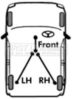 First Line Front Parking Hand Brake Cable Handbrake FKB2925 - 5 YEAR WARRANTY