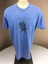 Vtg 90s 1994 CAMP-A-LOT Retro Camp Souvenir T- Shirt Light Blue 2XL USA MADE