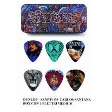 Jim Dunlop Sanpt02h Santana Medium Pick Tin Refill Box alluminio con 6 Plettri