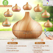 LED Ultraschall Luftbefeuchter 500ml Aroma Diffuser Aromatherapie Duftlampe Neu