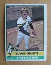 1976 TOPPS BASEBALL DAVE GIUSTI #352 AUTOGRAPHED SIGNED CARD PITTSBURGH PIRATES