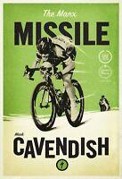 Fahrrad Mark Cavendish Manx Blechschild Schild Tin Sign 20 x 30 cm FA0276