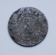 6 Grosh Old Coin Prussia Friderich Silver 1757 (797-0318)