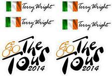 telaio bici adesivi personalizzato nome bandierina dell'IRLANDA ciclismo