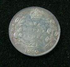 1910  INDIA  - One (1) Rupee  - SILVER  AU / UNC - Edward VII - KM#508