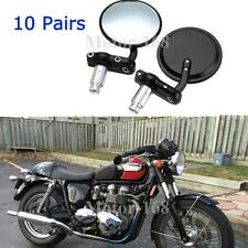 "10x Motorcycle CNC Aluminum Rearview 3"" Handle Bar End 7/8"" Mirrors Round Black"