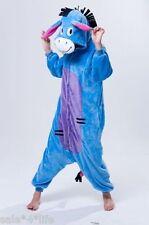 Kigurumi Kostüm Pyjama Karneval Fasching Esel I-aa S M L XL  Pferd blau Jumpsuit