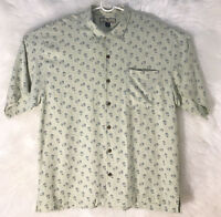 Tommy Bahama Men's Button Front Short Sleeve Coconut Shirt 100% Silk Size Large