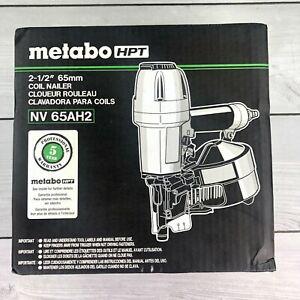 "Metabo HPT 2-1/2"" 65mm Coil Siding Nailer w/ Rubber Grip Model NV65AH2-BRAND NEW"
