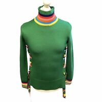 Mira Mikati Lace-up grosgrain-trimmed merino wool sweater US 4 EUR 36 - Preloved