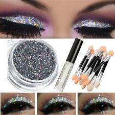 Poudre Glitter Paillette Ombre Fard à Paupières Smoky Eyeshadow + Colle + Brosse
