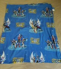 Star wars, Full Flat Sheet , The Clone Wars, 81in X 96in ,EUC