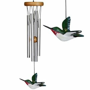 WOODSTOCK CHIMES -  HUMMER CHIME - HAND PAINTED HUMMINGBIRD HBRS