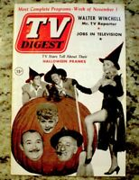 TV Guide 1952 Lucille Ball Halloween Pinup Witch Pre National TV Digest COA