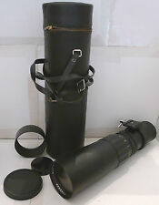 Tele-Astranar 1:6.3 f=400mm Bayonet lens +Hood, End Caps & Lens Case - Great