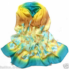 New Blue Women's Fashion Long Soft Chiffon Wrap Shawl Scarf Hot Scarves Wraps