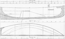 BOATS. Centre-board for Rowing & Sailing plan 1891 old antique print picture