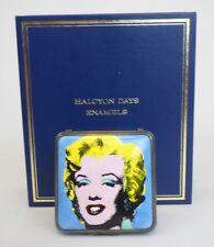 Halcyon Days Enamel Andy Warhol's Marilyn Monroe Trinket Box England Excellent