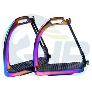 Rainbow Peacock Safety Stirrups Stainless Steel Stirrups Rainbow Stirrups