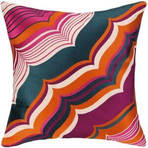 """Trina Turk Malibu Pillow - 20"""" x 20"""" Pink, Orange, Purple, Blue, Beige"""