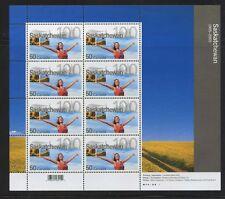 Canada 2005 Saskatchwan Centennial 50c Full sheet of 8 #2117 VF MNH