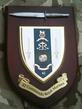 42 Commando Royal Marines With Pewter Model Military Army Wall Plaque