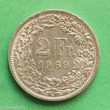 1969 Suiza 2 francos SNo40376