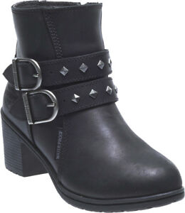 HARLEY-DAVIDSON FOOTWEAR Womens Abney Leather Waterproof Motorcycle Boots D87161