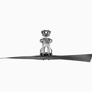 Progress Spades Polished Chrome 56-in Indoor Ceiling Fan Chrome (2-Blade)