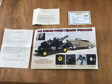 Danbury Mint 1:241946 Dodge Power Wagon Wrecker Title & Brochure (No Car!)