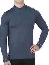 Asics Half Zip Long Sleeve Mens Running Top - Blue
